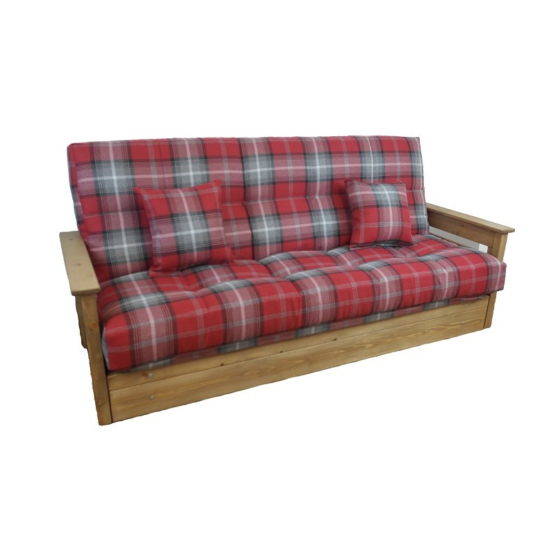 Boston futon sofa bed 3 seat click clack buy direct sofabed barn - Matelas futon clic clac ...
